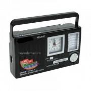 Radio portabil cu ceas XB-291c, 12 frecvente radio, control volum
