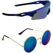 Zyaden Combo of 2 Sunglasses Sport and Round Sunglasses- COMBO 2813