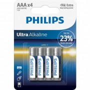 Philips UltraAlkaline LR03E4B/10 AAA mikro elem LR03 4db/csomag