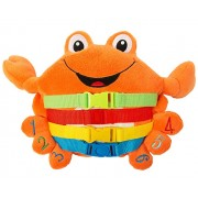 "BUCKLE TOY ""Barney"" Crab - Toddler Early Learning Basic Life Skills Childrens Plush Travel Activity"