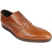 kuts n crvs kuts n crvs brown leather formal shoes Lace up with light weight sole Lace Up(Brown)