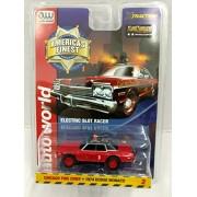 Auto World SC327 America's Finest Chicago Fire Chief 1974 Dodge Monaco HO Scale Electric Slot Car