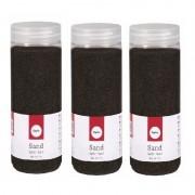 Rayher hobby materialen Fijn decoratie zand zwart 1425 ml
