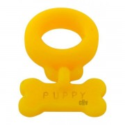 Oxballs Puppy Bone Tag Cock Ring Yellow EOXB-6469
