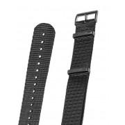 KHS Natoband KHS.EBNB.22 [22 mm] schwarz m. schwarzer Schließe