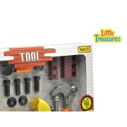 Little Treasures BUILDER 16pcs pretend play Mechanic Tools Set - a combination of working function hand tools including wrench, screwdriver, hammer, motorcycle which can be assembled and dis-assembled