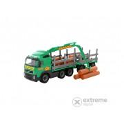 Camion transport busteni cu remorca Volvo, 74 cm