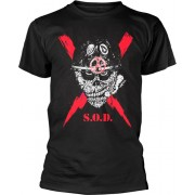 S.O.D. Stormtroopers Of Death Scrawled Lightning T-Shirt L