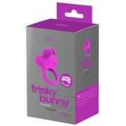 VeDO Frisky - akkus, nyuszis, vibrációs péniszgyűrű (lila)