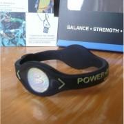Balanční náramek s hologramem Power Balance - černý-žlutý