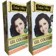Indus Valley Organically Natural Gel Dark Brown 3.00 Hair Color - One Touch Pack - Twin Pack