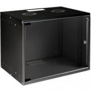 Комуникационен шкаф MIRSAN SOHO, 535 x 400 x 440 мм, D=400 мм / 9U, черен, за стена