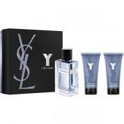 YSL Y For Men Комплект (EDT 100ml + AS Balm 50ml + SG 50ml) за Мъже