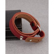 Dare by Voylla Red Wraparound Bracelet from Leather Trend Collection
