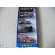 Hot Wheels Gift Pack Hot Rods- Lakester, Fat Fendered '40, Deuce Roadster, 3-window '34, Fiat 500
