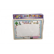 Slate for kids with chalk, White & Black Writing board for kids to Learn & fun Write And Rub Board.