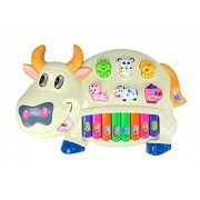 Toy Vala Cow Musical Piano With 3 Modes Animal Sounds, Flashing Lights & Wonderful Melodious Music