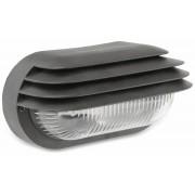 Müller-Licht Ovalleuchte MÜLLER-LICHT mit Lamellen, 40 W, IP44, schwarz
