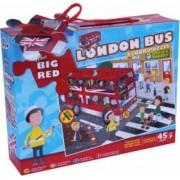 Puzzle de podea Grafix Plimbare cu autobuzul 45 piese Multicolor