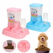 Pet Cat Dog Automatic Water Drinker Dispenser Food Feeder Dish Bowl Bottle Pet Bowl