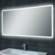 Badkamerspiegel Quatro 100x60cm Geintegreerde LED Verlichting Verwarming Anti Condens Lichtschakelaar