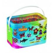 Margele de calcat HAMA MIDI 6 culori neon 10000 de margele pe cutie