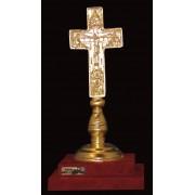 """Ръчно изработена статуетка с 22 карата златно покритие """"Кръст"""" (A064)"""
