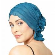 Chemo Beanies® - Headwear Covers for Hair Loss Rita (Teal Green Ruffle)