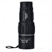 52mm 16X ultra-claro telescopio monocular ajustable doble - negro
