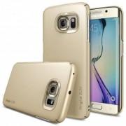 Husa Protectie Spate Ringke Slim Royal Gold + Bonus folie protectie display pentru Samsung Galaxy S6 Edge Plus