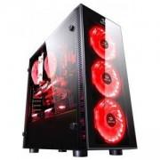 Кутия за настолен компютър REDRAGON Sidewipe GC-601-BK, Midi Tower, RGB контролер, USB 2.0/ 3.0, черен, GC-601-BK_VZ