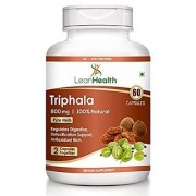 Leanhealth 100 Natural Balancing Formula Triphala 800 Mg For Detoxification Rejuvenation - Pack Of 1 (60 Veg Caps)