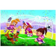 Puzzle Eurographics - Go Girls Go! Fussball, 100 piese (42732)