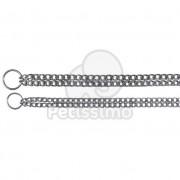 Trixie zgardă de dresaj cu lanț dublu 60 cm/2,5 mm (TRX2239)