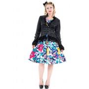 veste pour femmes printemps / automne HEARTS AND ROSES - Noire Victorian Brocade - 0919
