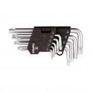 Set chei torx scurte 9 piese T10-T50 TOPEX 35D960