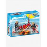 5397 Bombeiro e mangueira, da Playmobil amarelo medio bicolor/multicol