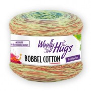 Woolly Hugs Bobbel Cotton von Woolly Hugs, Color/Hellgrün/Terra/Blau