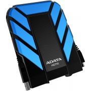 """HDD Extern A-DATA AHD710, 2.5"""", 1TB, USB 3.0, rezistent la apa si socuri (Albastru)"""