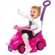 Детски кракомобил 4 в 1 - Усмивка - розов, Dolu, 8690089080059