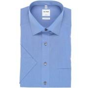 OLYMP Luxor Comfort Fit Hemd Kurzarm blau, Einfarbig