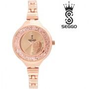SEGGO SG-2507 Latest Design Stainless Steel Women's / Ladies Beautiful Remarkable Analog Wrist Watch - For Girls