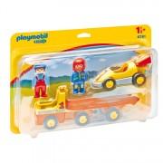 Playmobil - 1.2.3 racewagen met takelwagen