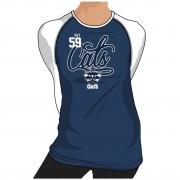 Geelong Cats Ladies Printed Long Sleeve Tee Shirt