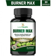 Leanhealth Burner Max Pure Garcinia Cambogia Extract - 95 HCA Capsules - Best Weight Management Supplement - Non GMO - Gluten and Gelatin Free - Natural Appetite Suppressant. Pack of 1