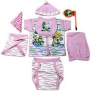 Dazzle Born Baby Gift Set for Girls New Born Baby Gift Set for Girl 8 Piece Set for Infant Girl just Born Girl Pink