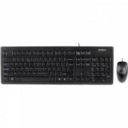 Kit Tastatura + Mouse Cu Fir A4Tech KRS-8372 Negru