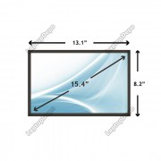 Display Laptop Sony VAIO PCG-K27 15.4 inch 1280x800 WXGA CCFL - 2 BULBS