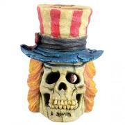Underwater Treasures Underwater tesoros 65377Patriot Cráneo Acuario Ornamento