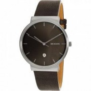 Ceas Skagen barbatesc Ancher SKW6320 gri Leather Quartz